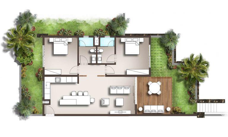 2beach residences floor plan sample