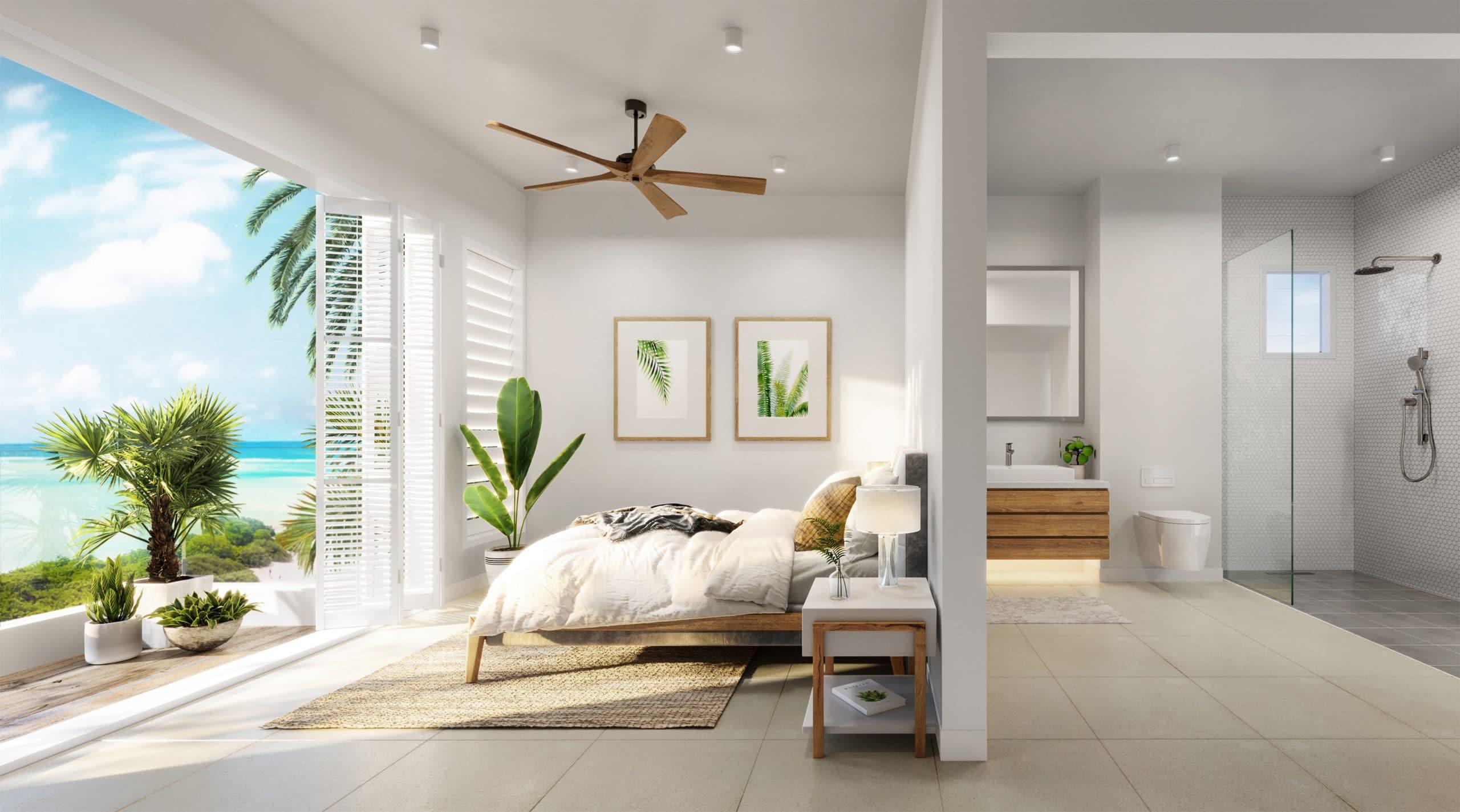 Ocean Point Beachfront Residences Penthouse bedroom